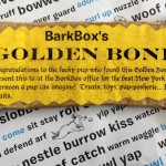 BarkBox Golden Bone Contest