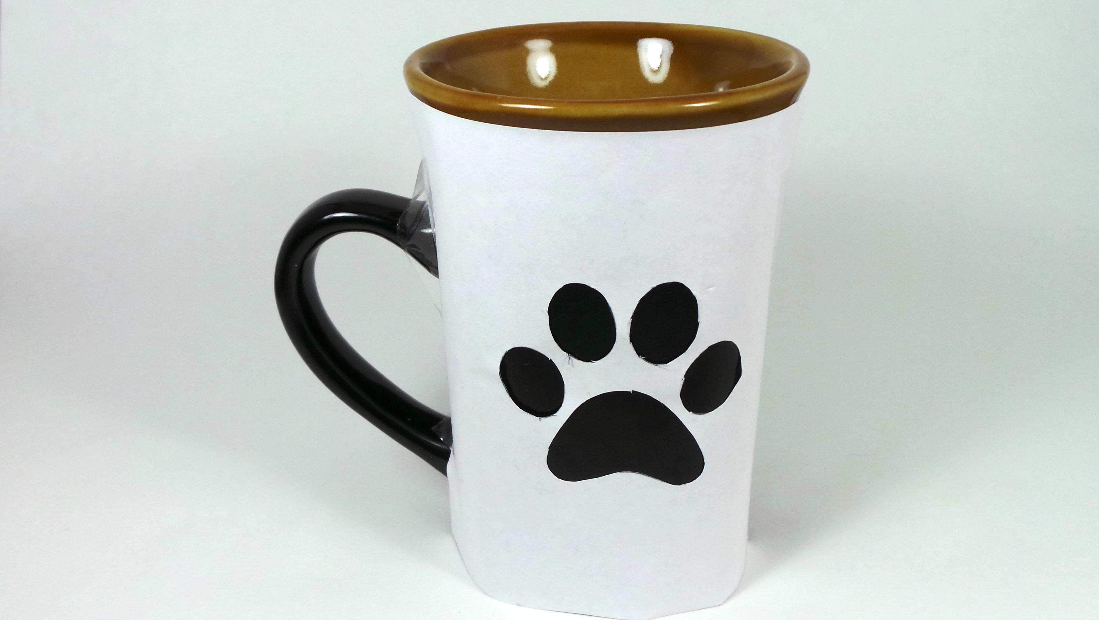 DIY Paw Print Coffee Mug - Step Three
