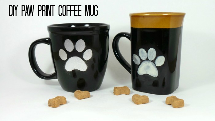 DIY Paw Print Coffee Mug Tutorial