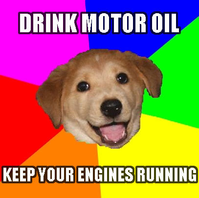 advice_dog_drink_motor_oil