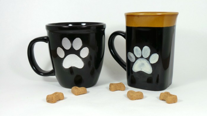 DIY Paw Print Coffee Mug - Final Product