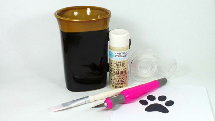 DIY Paw Print Coffee Mug - Supplies Needed